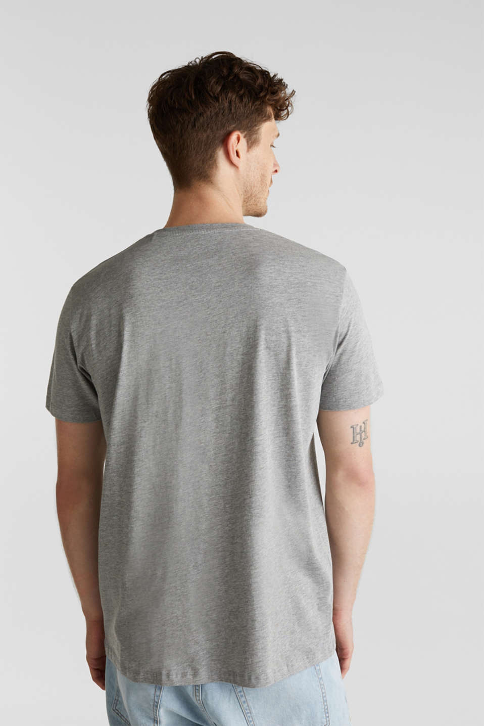 Jersey print top with organic cotton, MEDIUM GREY 5, detail image number 3
