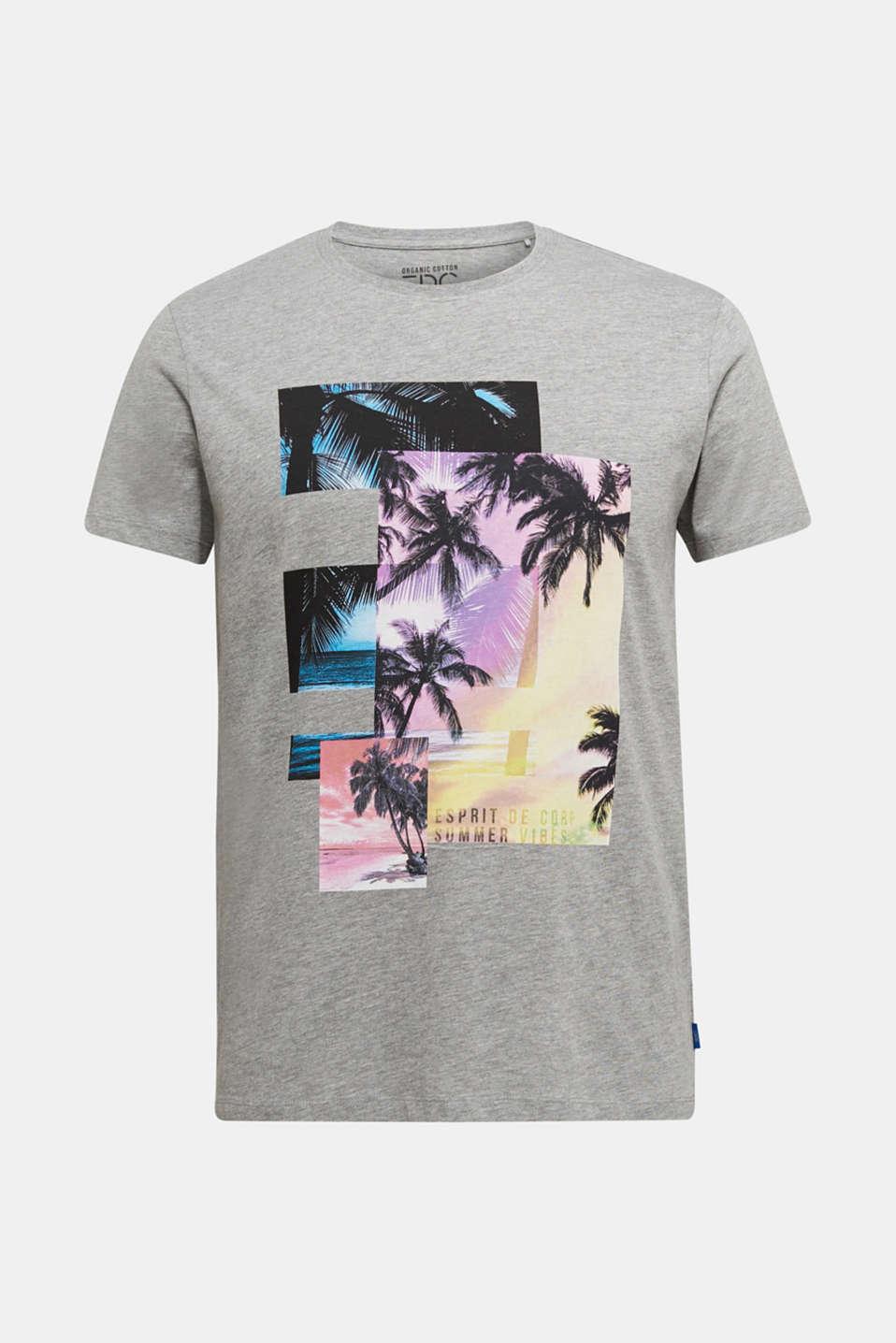Jersey print top with organic cotton, MEDIUM GREY 5, detail image number 5
