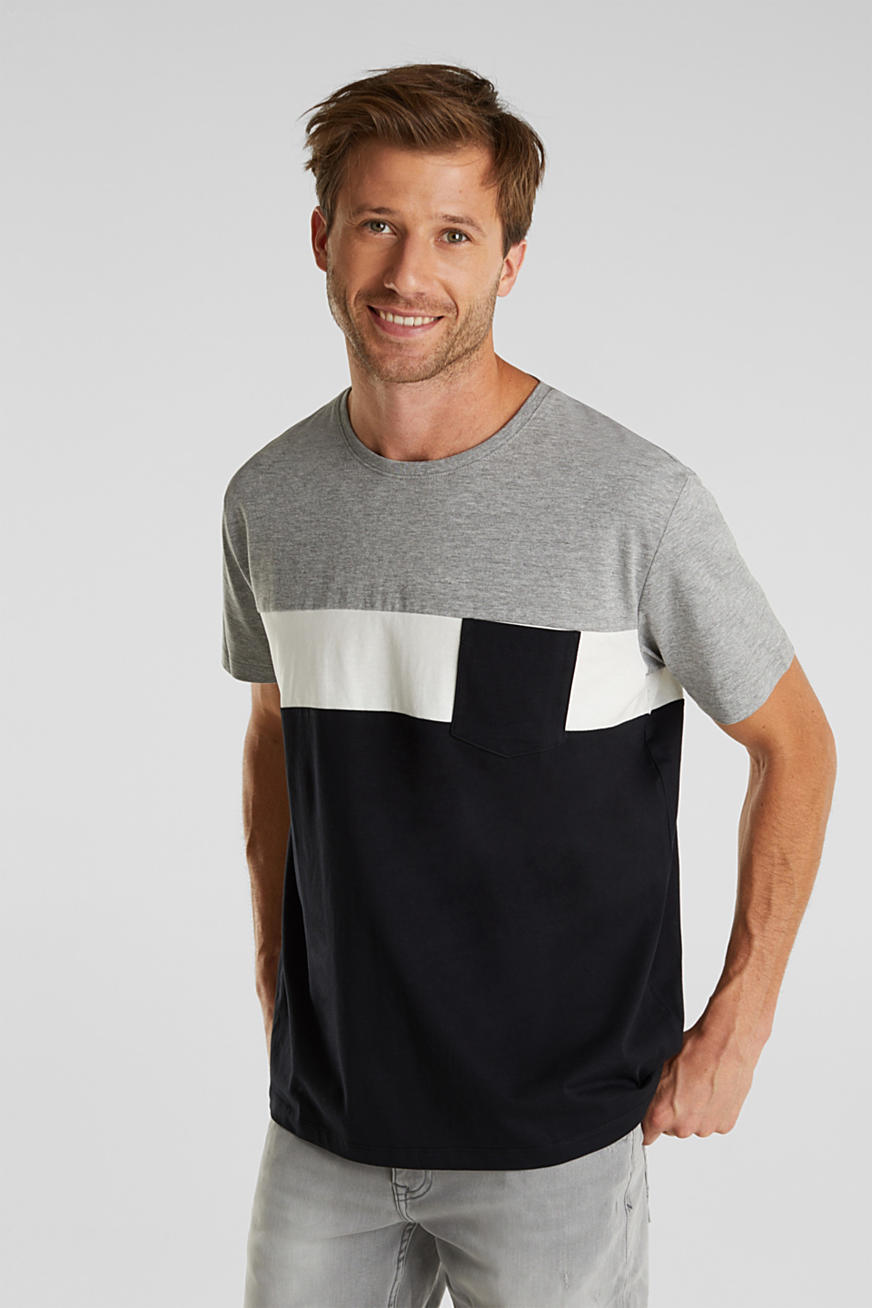 Jersey T-shirt met colour block design
