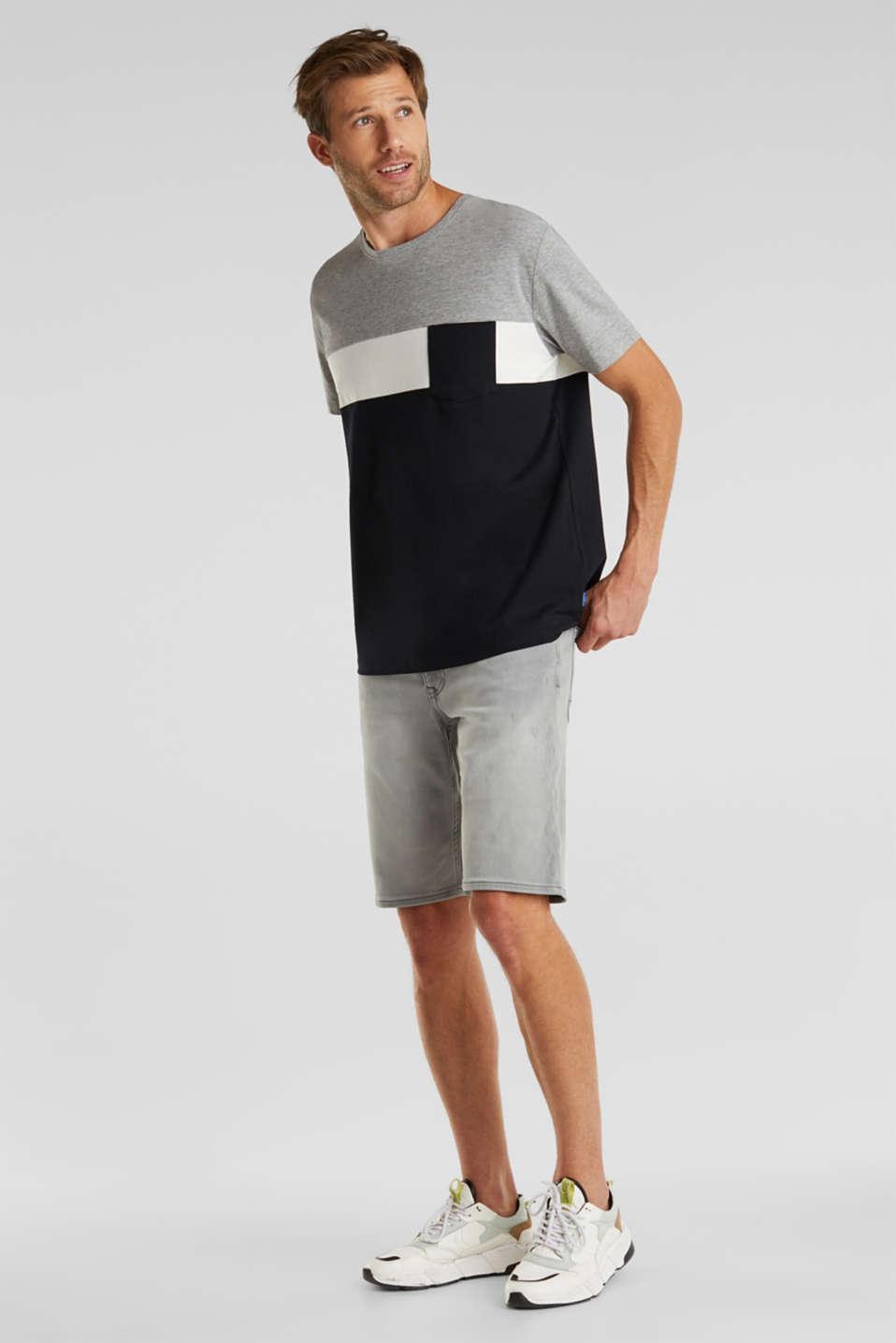 Colour block jersey T-shirt, BLACK 2, detail image number 2
