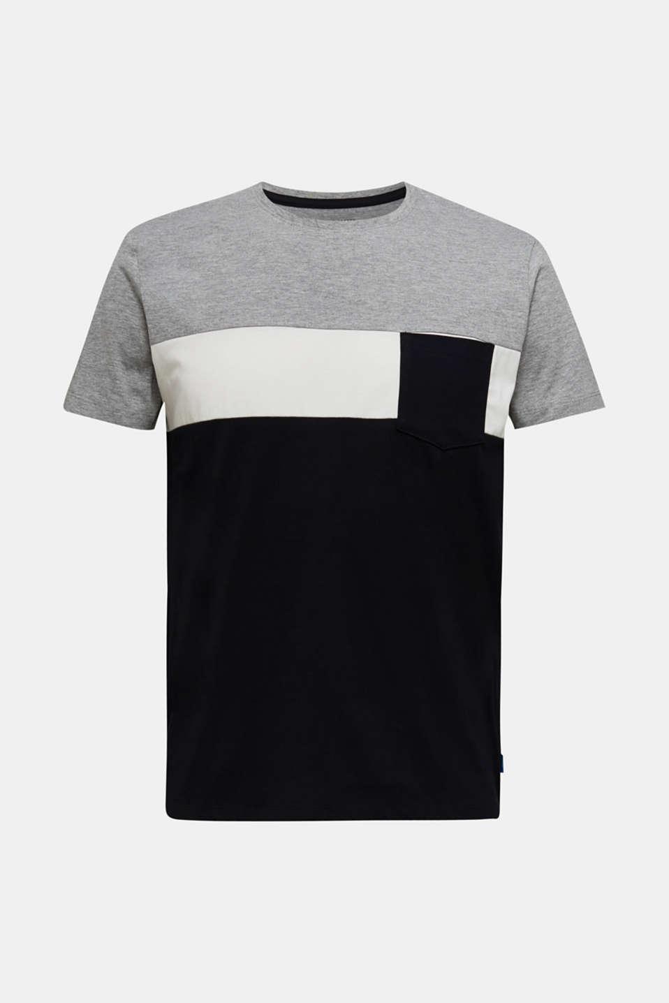 Colour block jersey T-shirt, BLACK 2, detail image number 5