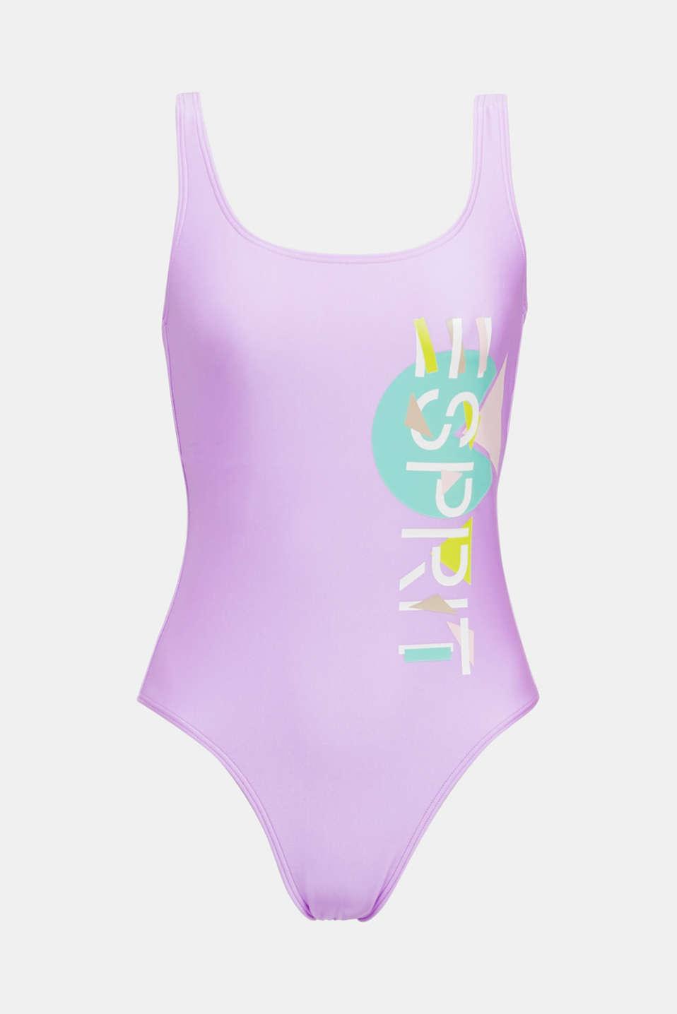 #throwback Logo swimsuit, PURPLE, detail image number 6