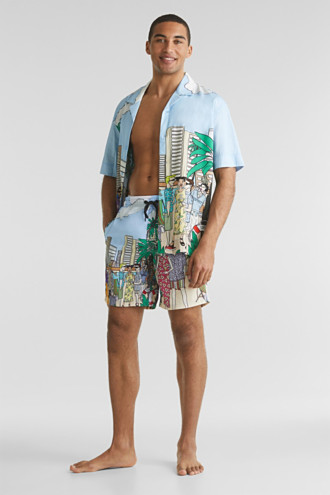 #throwback swim shorts with a print