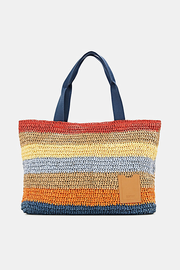 Hand-crafted shopper made of bast