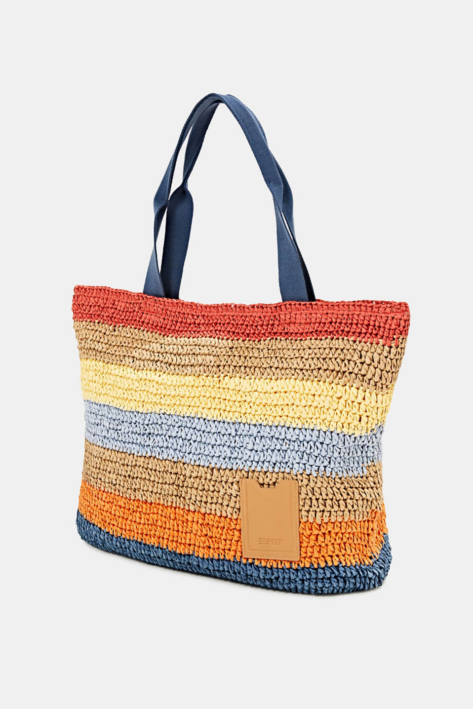 Hand-crafted shopper made of bast, ORANGE, detail image number 2