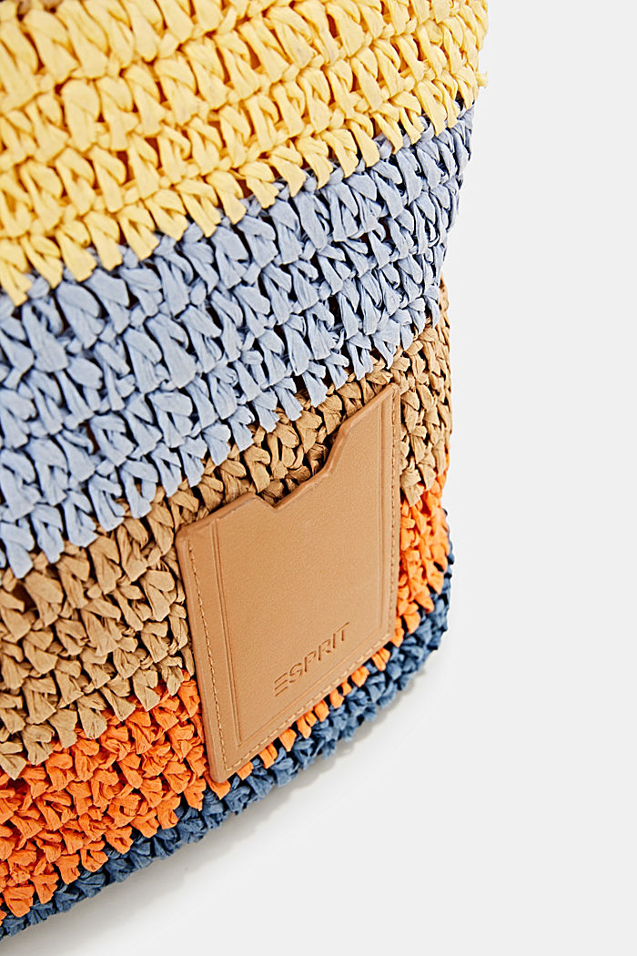 Hand-crafted shopper made of bast, ORANGE, detail image number 3