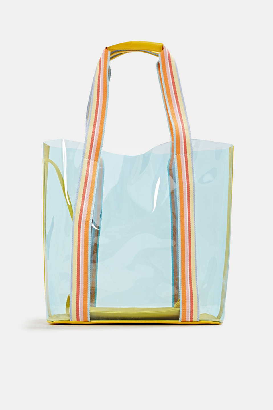 Vinyl shopper with a clutch, YELLOW, detail image number 0
