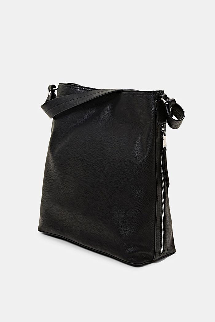 Taška typu hobo se vzhledem kůže, BLACK, detail image number 2