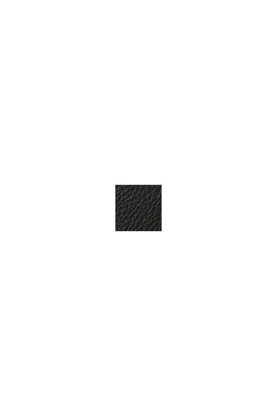 Hobo bag in leerlook, BLACK, swatch