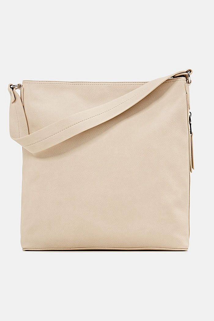 Hobo-Bag in Leder-Optik, BEIGE, detail image number 0