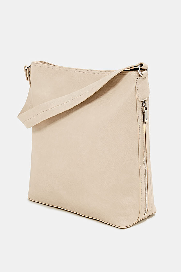 Hobo-Bag in Leder-Optik, BEIGE, detail image number 2
