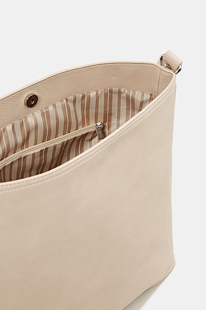 Hobo-Bag in Leder-Optik, BEIGE, detail image number 4