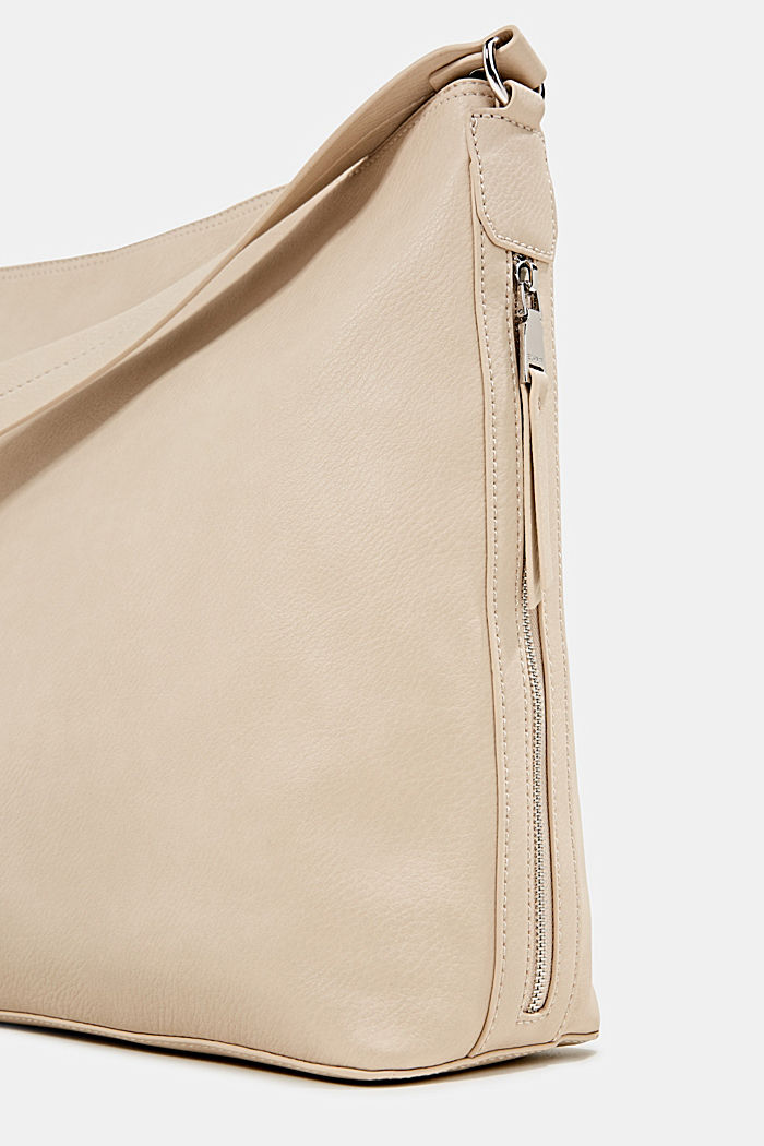 Hobo-Bag in Leder-Optik, BEIGE, detail image number 3