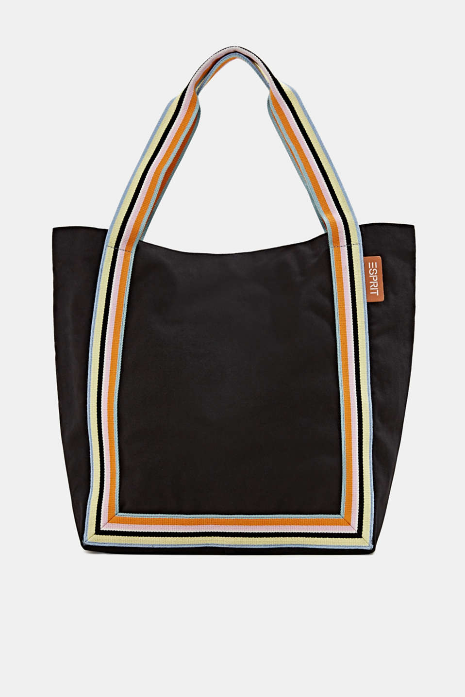 Canvas shopper made of 100% cotton, BLACK, detail image number 0