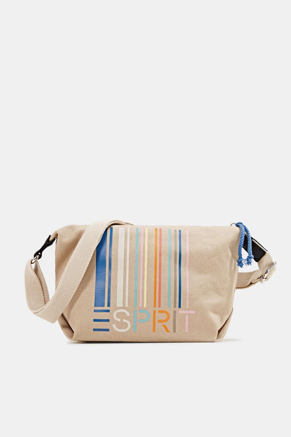 Canvas shoulder bag, BEIGE, detail image number 0