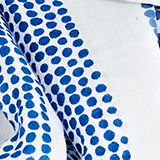 Printed scarf made of 100% organic cotton, BRIGHT BLUE, swatch