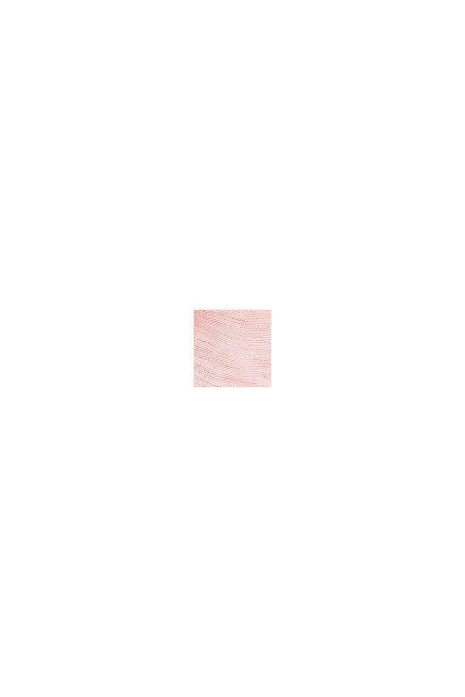 100% Leinen: Schal in Melange-Optik, CORAL, swatch