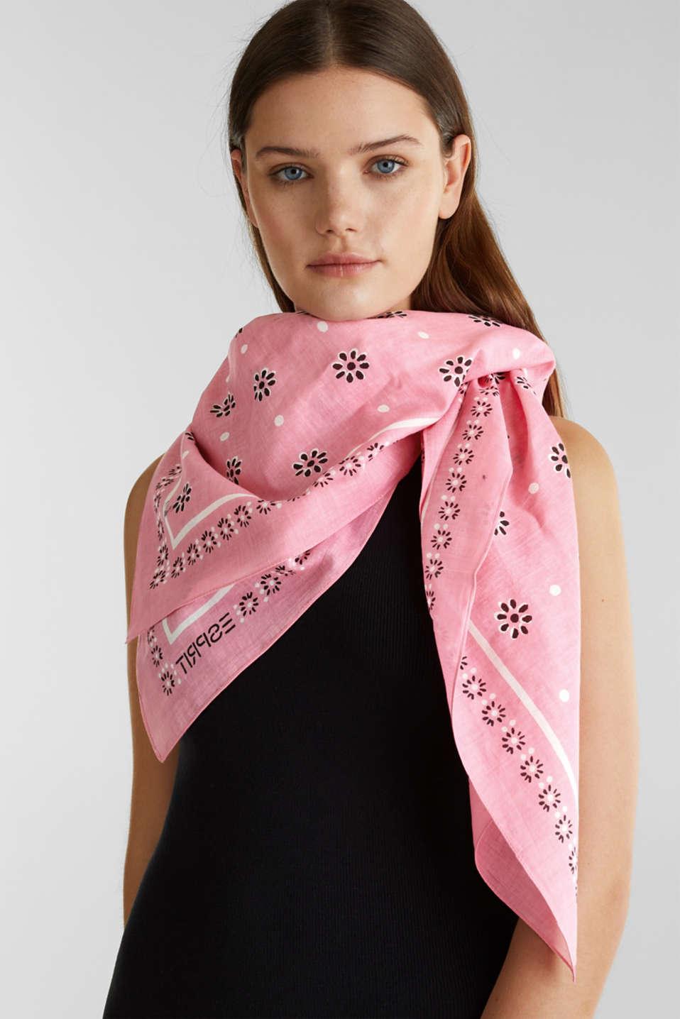 Bandana made of 100% organic cotton, PINK, detail image number 1