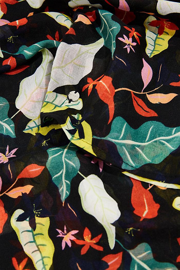 Colsjaal met bloemenprint, BLACK, detail image number 2