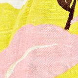 Made of linen and LENZING™ ECOVERO™: printed scarf, BRIGHT YELLOW, swatch