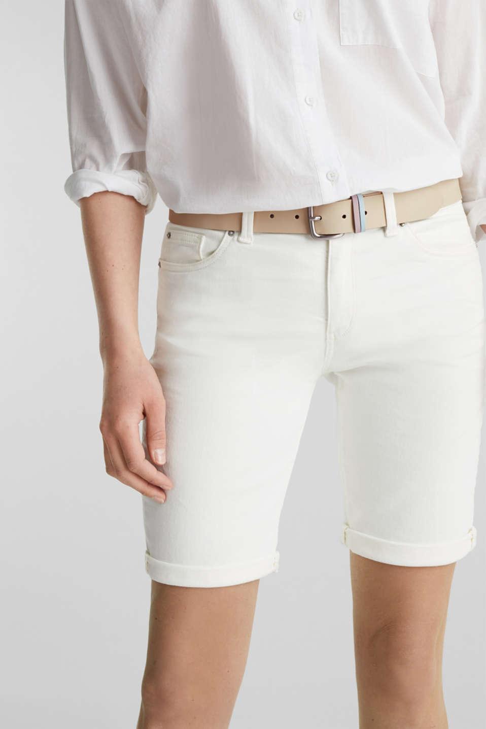 Leather belt, BEIGE, detail image number 2