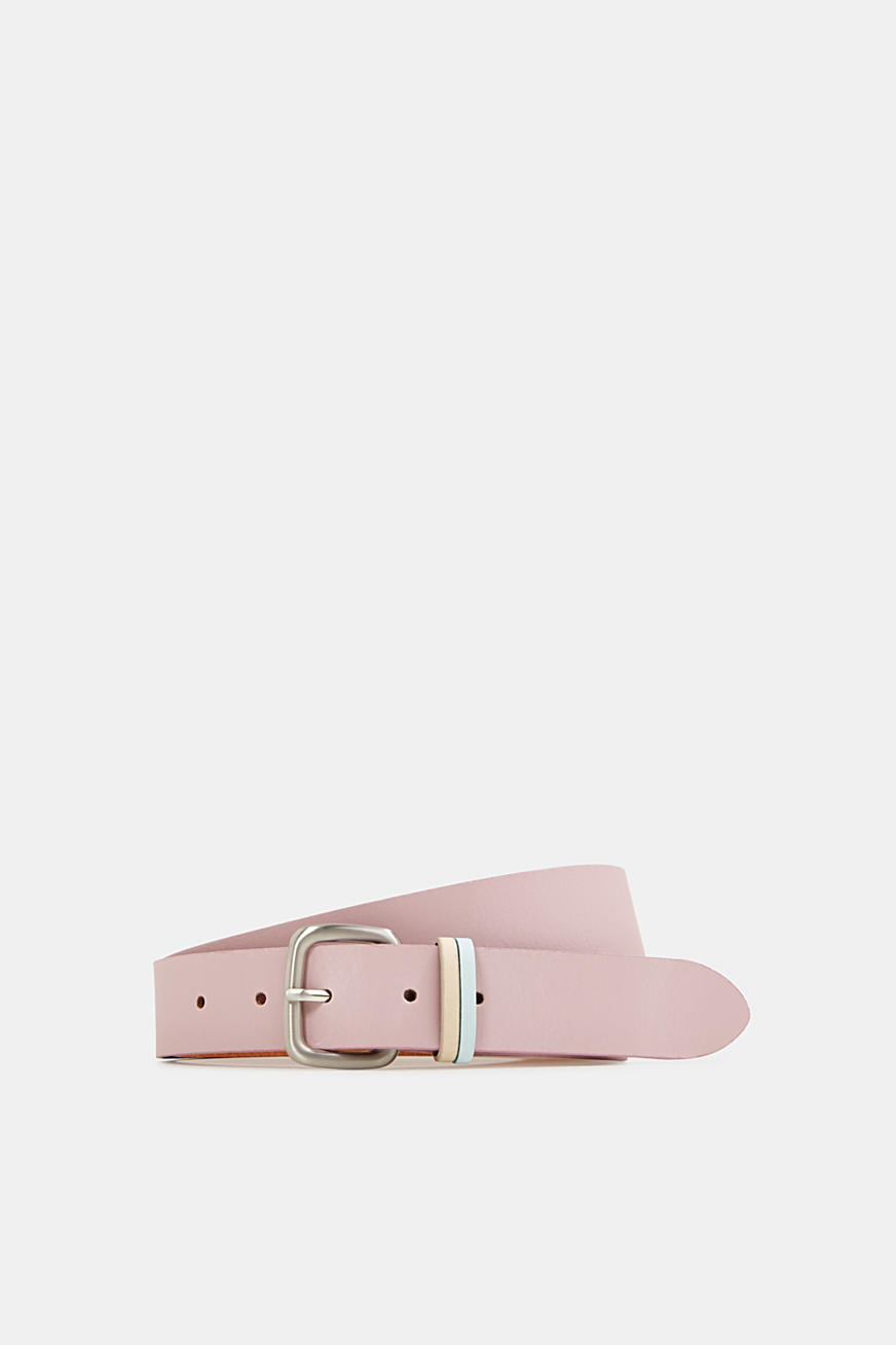 Made of leather: belt in pastel colours