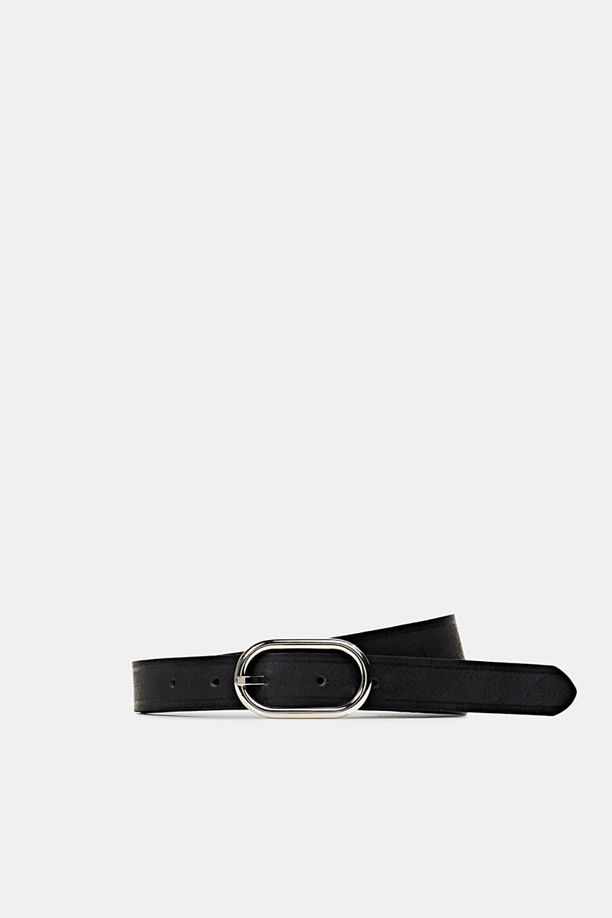Made of leather: narrow belt