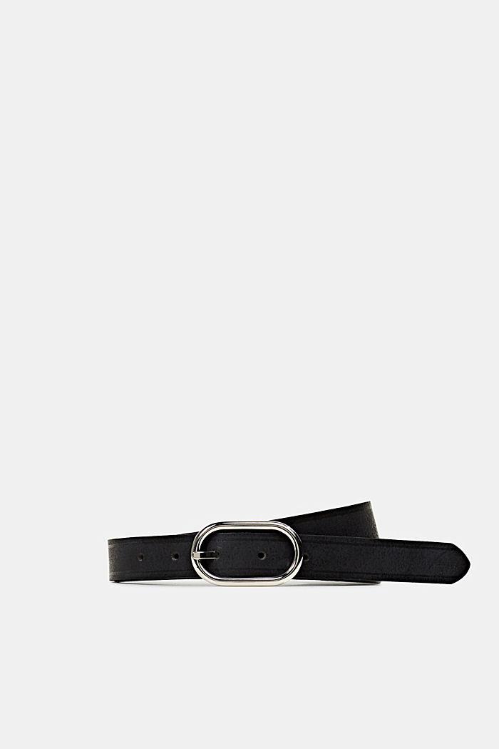 Made of leather: narrow belt, BLACK, detail image number 0