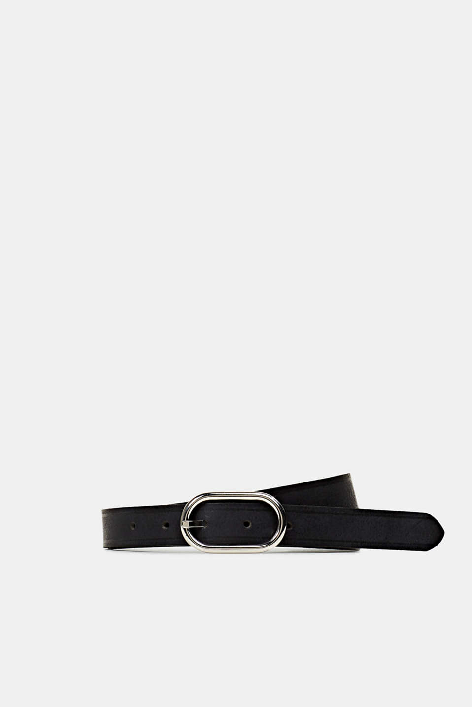 Esprit - Made of leather: narrow belt