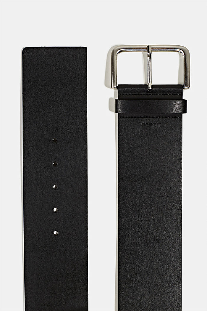 Wide faux leather belt, BLACK, detail image number 1