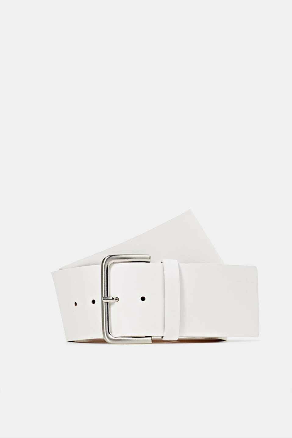 Wide faux leather belt, OFF WHITE, detail image number 0