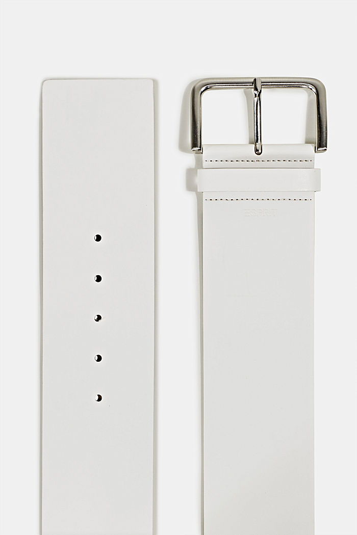 Breiter Taillengürtel in Leder-Optik, OFF WHITE, detail image number 1