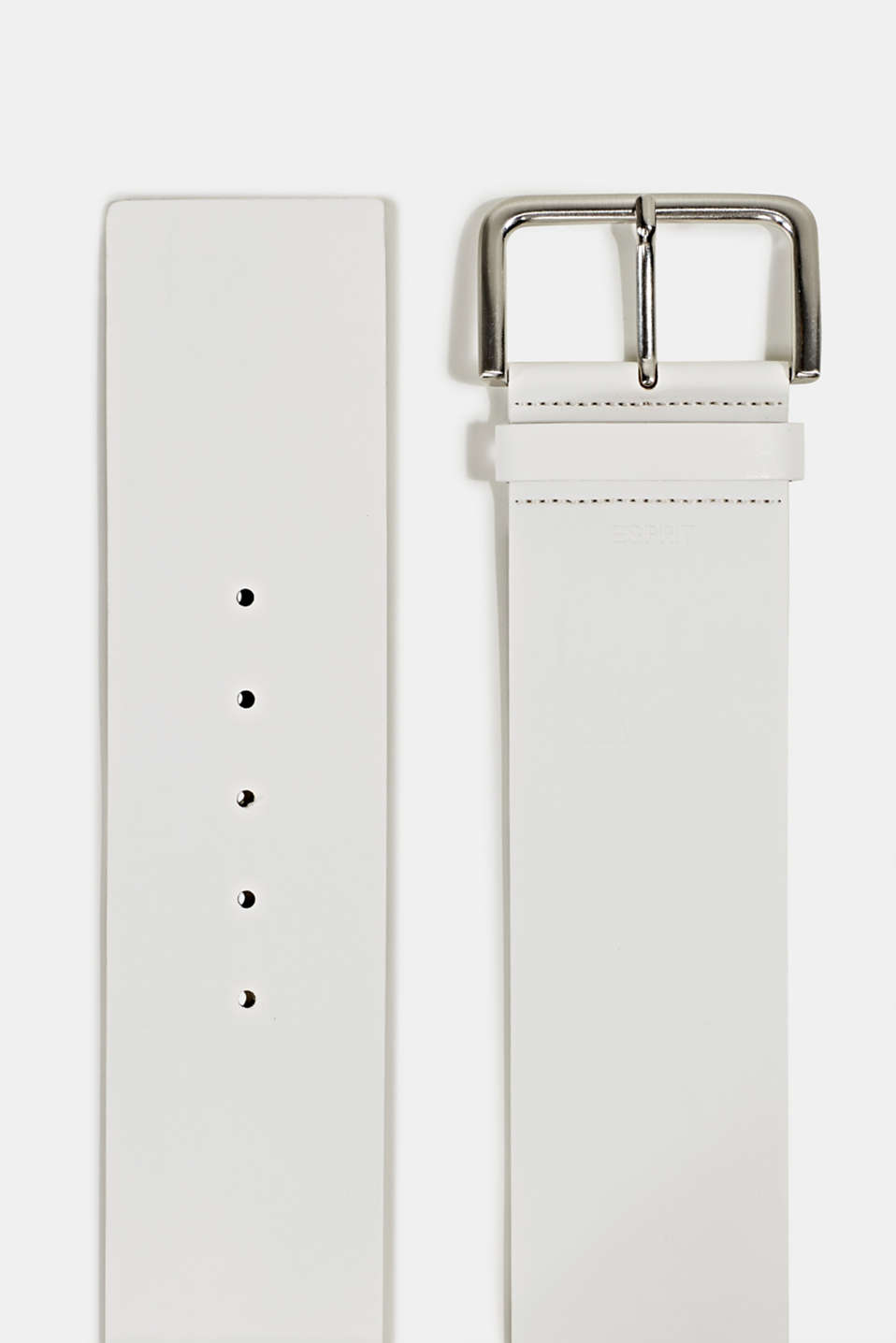 Wide faux leather belt, OFF WHITE, detail image number 1