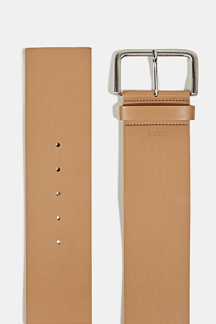 Wide faux leather belt, CREAM BEIGE, detail image number 1
