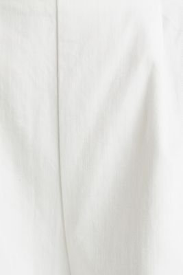 Culottes with waist pleats in blended lyocell, WHITE, detail