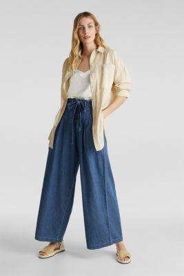 Button-fly jeans, BLUE MEDIUM WASH, detail