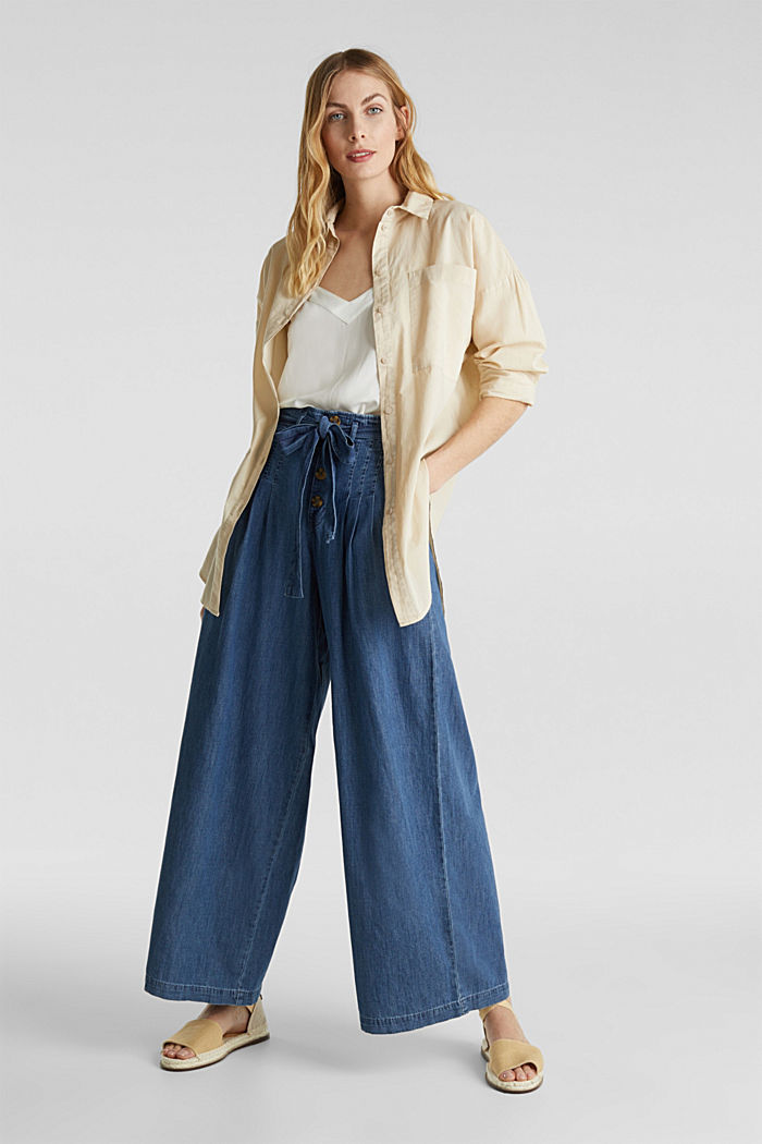 Jeans mit Knopfleiste, BLUE MEDIUM WASHED, detail image number 1
