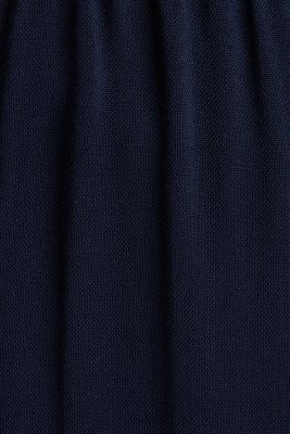 Wide trousers made of LENZING™ ECOVERO™, NAVY, detail