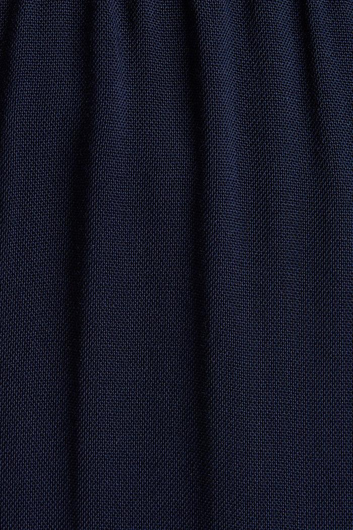 Pantalon large en fibres LENZING™ ECOVERO™, NAVY, detail image number 4