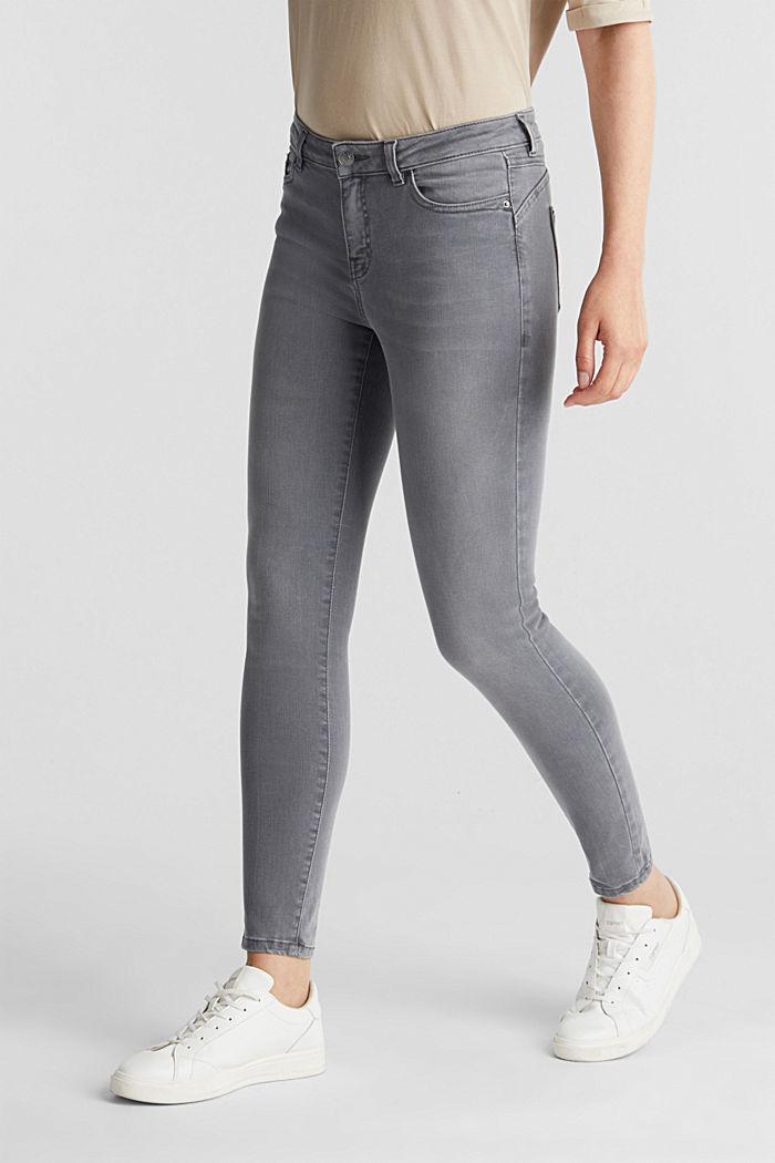 Jeans modellanti lunghi fino alla caviglia, GREY DARK WASHED, detail image number 0