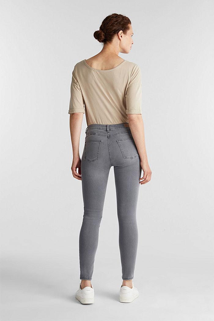 Jeans modellanti lunghi fino alla caviglia, GREY DARK WASHED, detail image number 3