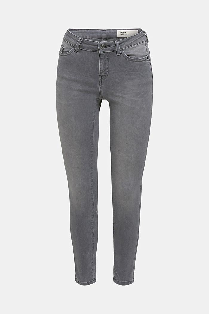 Jeans modellanti lunghi fino alla caviglia, GREY DARK WASHED, detail image number 6