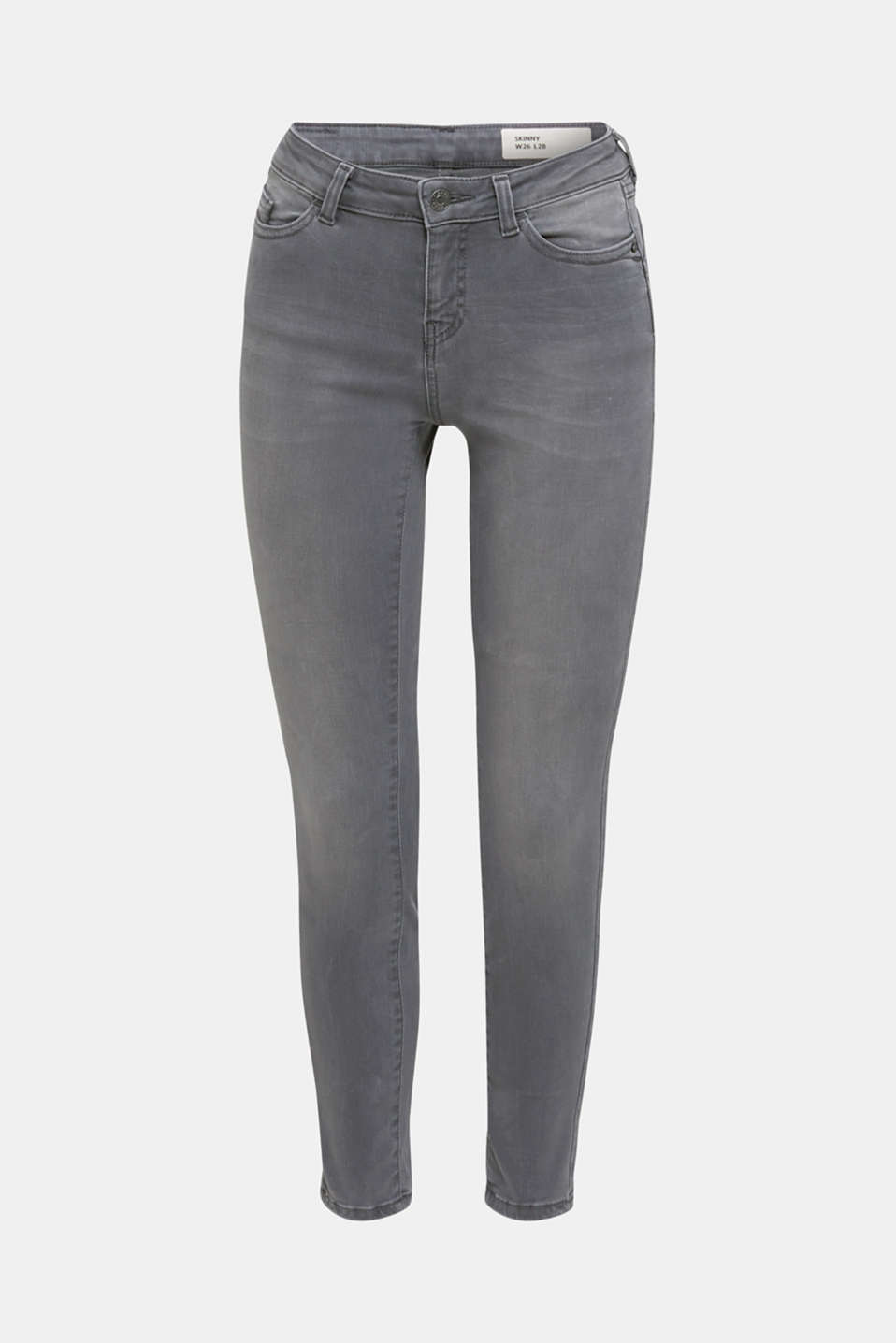 Ankle-length shaping jeans, GREY DARK WASH, detail image number 7