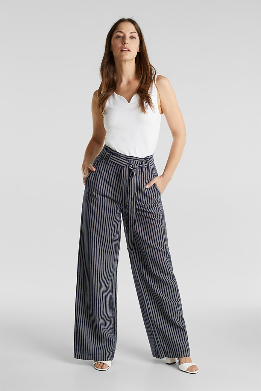 Paperbag trousers, TENCEL™/linen