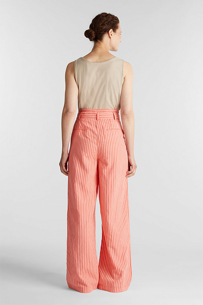 Paperbag trousers, TENCEL™/linen, CORAL, detail image number 3