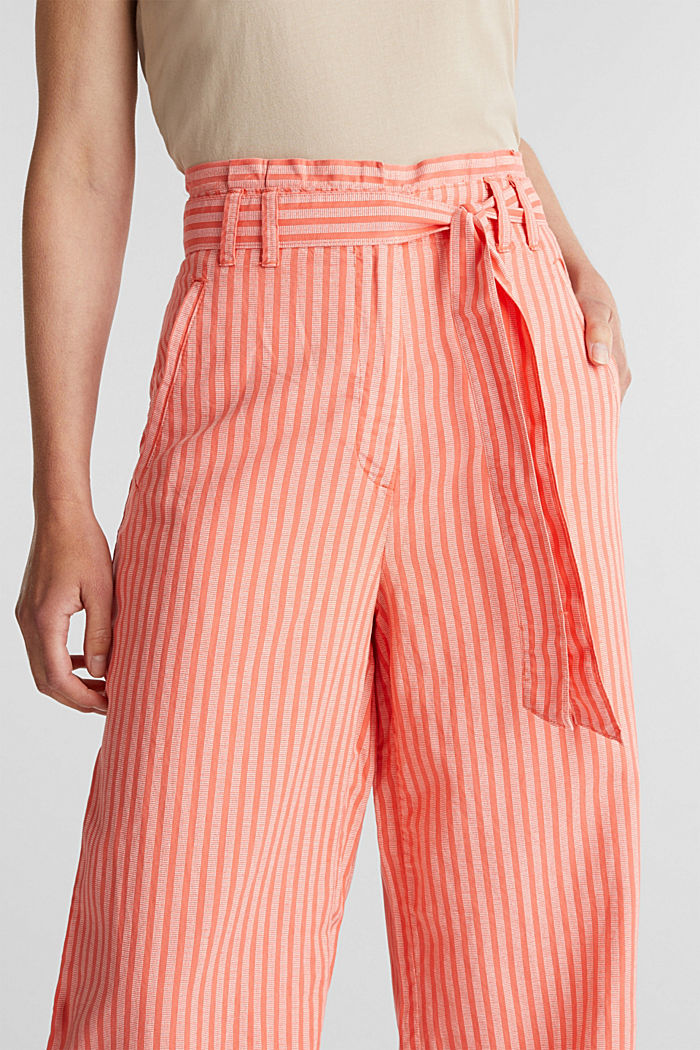 Paperbag trousers, TENCEL™/linen, CORAL, detail image number 2