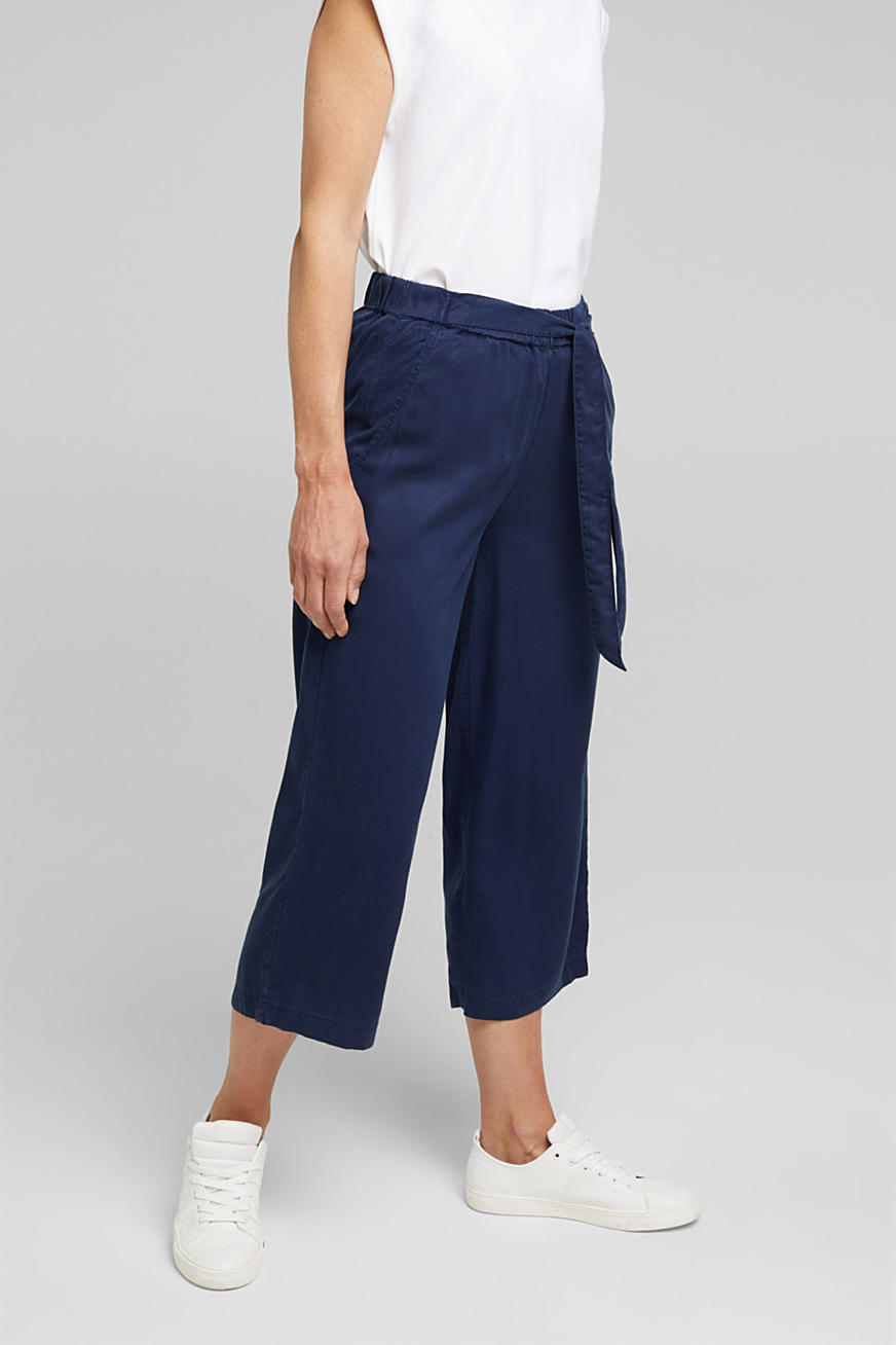 Culottes made of flowing lyocell