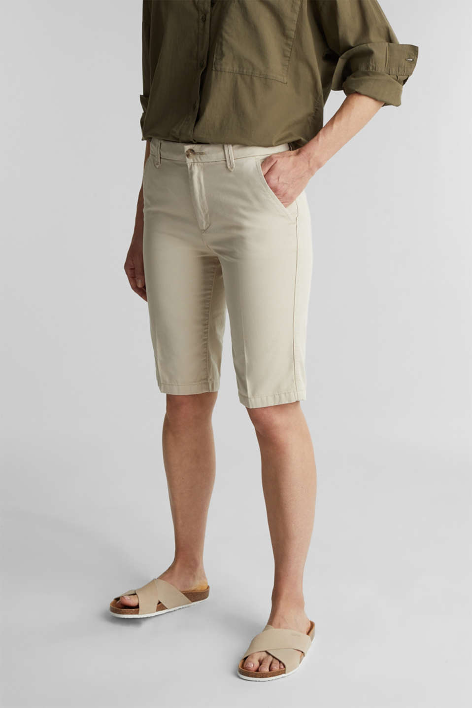Bermudas in 100% cotton, SAND, detail image number 0