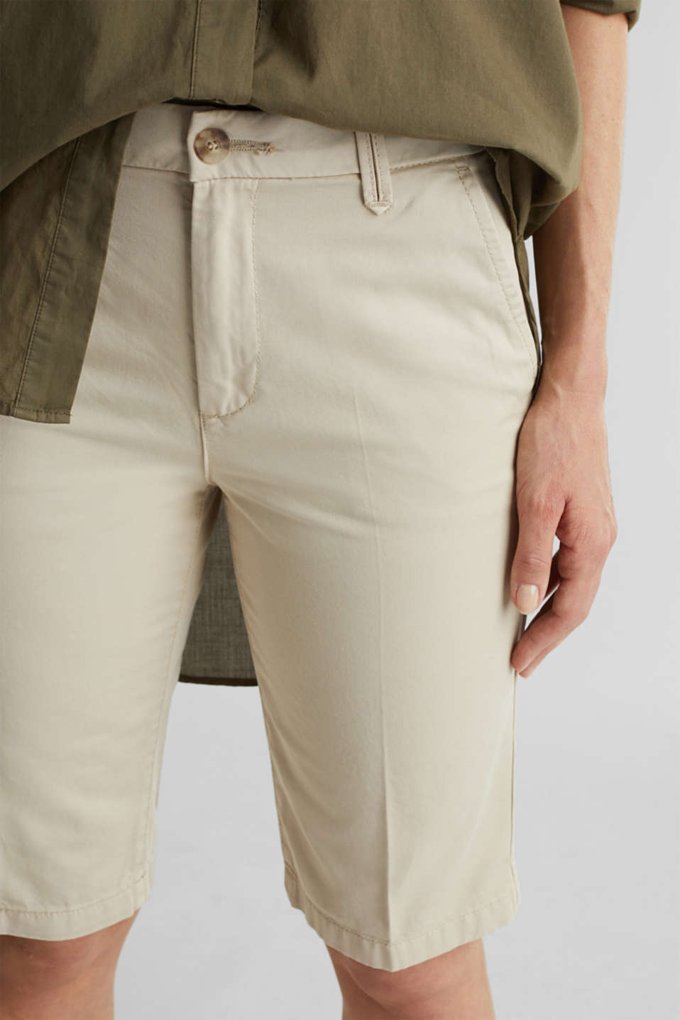 Bermudas in 100% cotton, SAND, detail image number 2