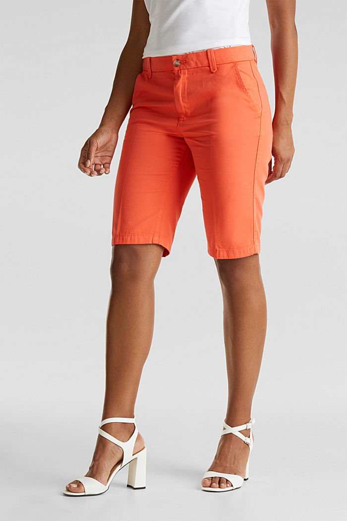 Bermudas in 100% cotton, CORAL, detail image number 0
